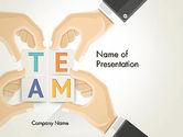 Careers/Industry: Team Building Blocks PowerPoint Template #13406