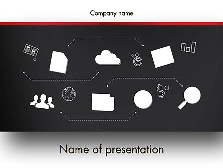 Company Management PowerPoint Template, 13410, Business — PoweredTemplate.com
