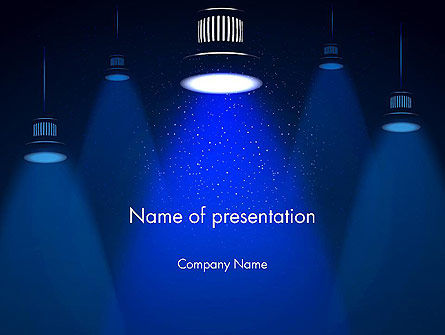 Lighting PowerPoint Template, 13411, Careers/Industry — PoweredTemplate.com