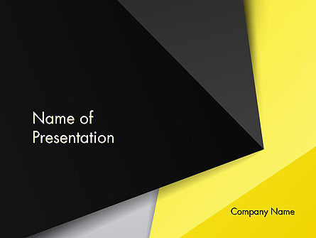Abstract/Textures: Yellow and Black Shapes PowerPoint Template #13413