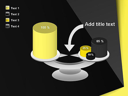 Yellow and Black Shapes PowerPoint Template Slide 10