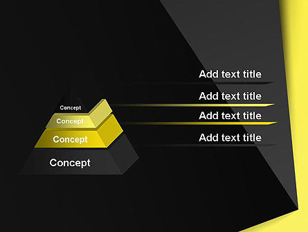 Yellow and Black Shapes PowerPoint Template Slide 12