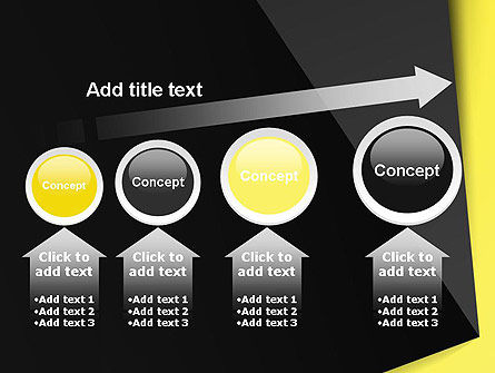 Yellow and Black Shapes PowerPoint Template Slide 13