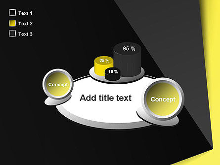 Yellow and Black Shapes PowerPoint Template Slide 16