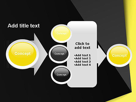 Yellow and Black Shapes PowerPoint Template Slide 17