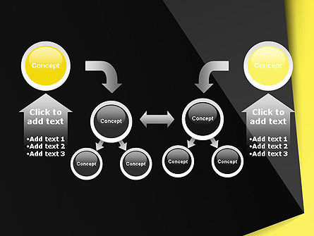Yellow and Black Shapes PowerPoint Template Slide 19
