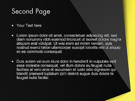 Yellow and Black Shapes PowerPoint Template Slide 2