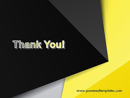 Yellow and Black Shapes PowerPoint Template Slide 20