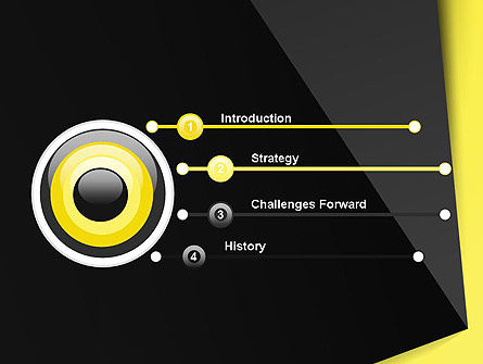 Yellow and Black Shapes PowerPoint Template, Slide 3, 13413, Abstract/Textures — PoweredTemplate.com