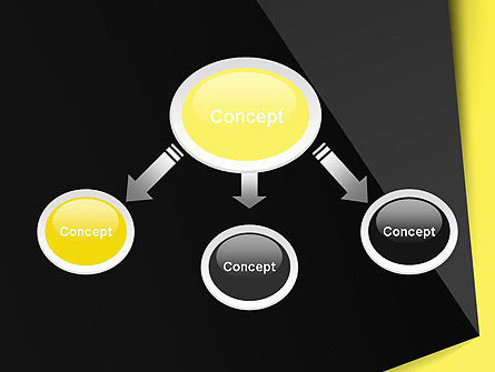 Yellow and Black Shapes PowerPoint Template, Slide 4, 13413, Abstract/Textures — PoweredTemplate.com