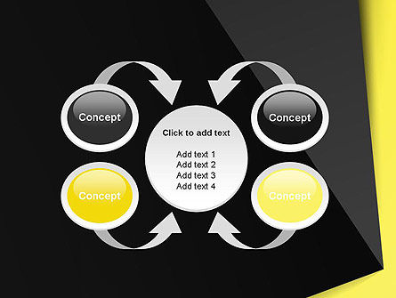 Yellow and Black Shapes PowerPoint Template Slide 6