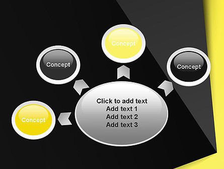 Yellow and Black Shapes PowerPoint Template Slide 7