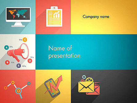 Concept with Flat Icons PowerPoint Template, 13415, Business Concepts — PoweredTemplate.com