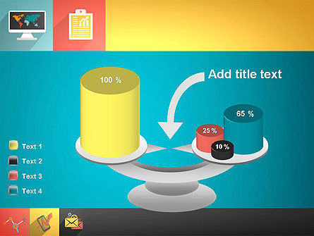Concept with Flat Icons PowerPoint Template Slide 10