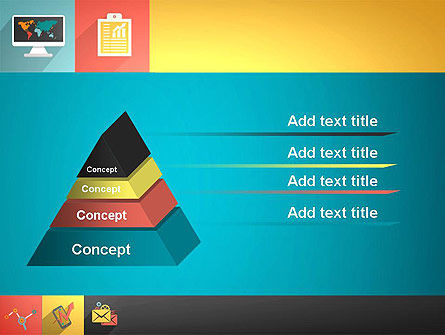 Concept with Flat Icons PowerPoint Template Slide 12