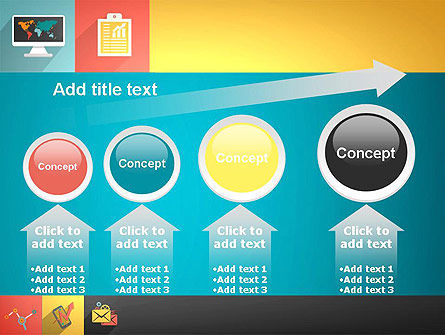 Concept with Flat Icons PowerPoint Template Slide 13