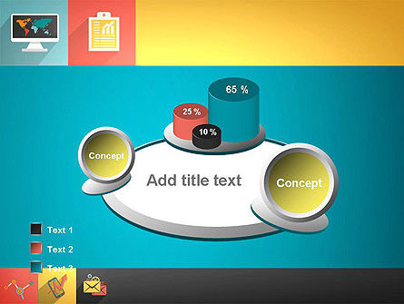 Concept with Flat Icons PowerPoint Template Slide 16