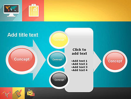 Concept with Flat Icons PowerPoint Template Slide 17