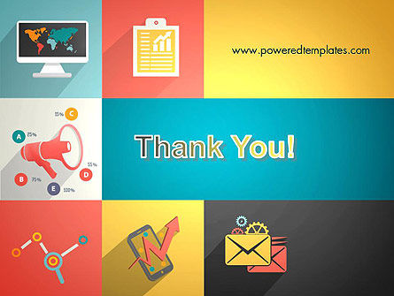 Concept with Flat Icons PowerPoint Template Slide 20