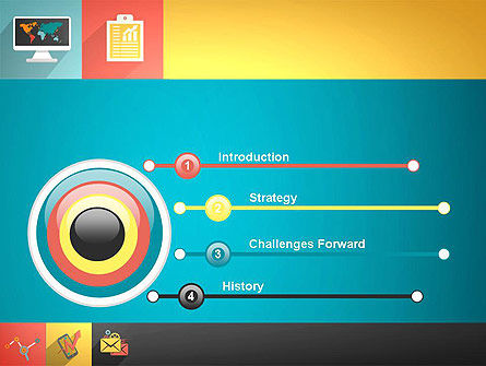 Concept with Flat Icons PowerPoint Template Slide 3