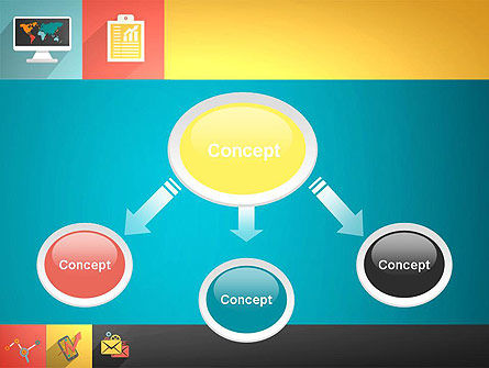 Concept with Flat Icons PowerPoint Template Slide 4