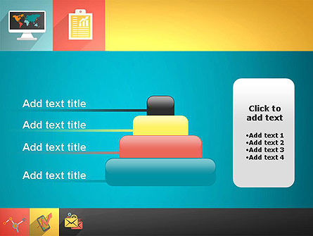 Concept with Flat Icons PowerPoint Template Slide 8