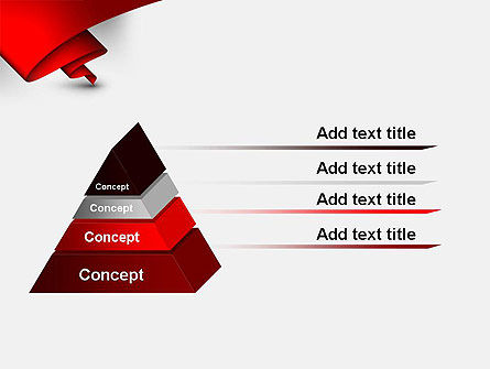 Fluttering Red Banner Abstract PowerPoint Template Slide 12