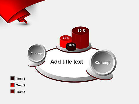 Fluttering Red Banner Abstract PowerPoint Template Slide 16