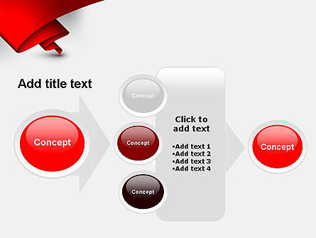Fluttering Red Banner Abstract PowerPoint Template Slide 17