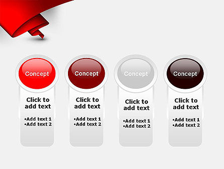 Fluttering Red Banner Abstract PowerPoint Template Slide 5