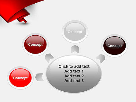 Fluttering Red Banner Abstract PowerPoint Template Slide 7