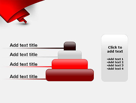 Fluttering Red Banner Abstract PowerPoint Template Slide 8