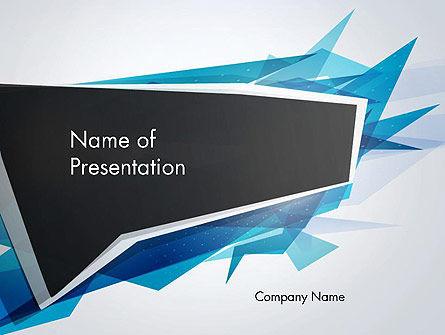 Abstract/Textures: Sharp Edges Abstract PowerPoint Template #13418