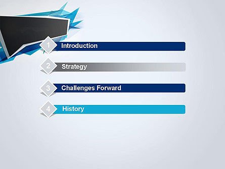 Sharp Edges Abstract PowerPoint Template Slide 3