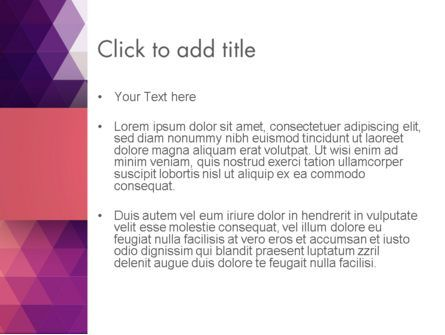 Triangle Subtle Pattern PowerPoint Template, Slide 3, 13419, Abstract/Textures — PoweredTemplate.com