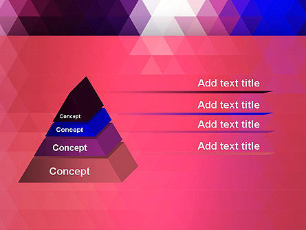 Triangle Subtle Pattern PowerPoint Template Slide 12