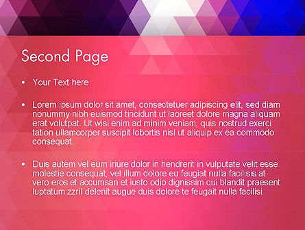 Triangle Subtle Pattern PowerPoint Template Slide 2