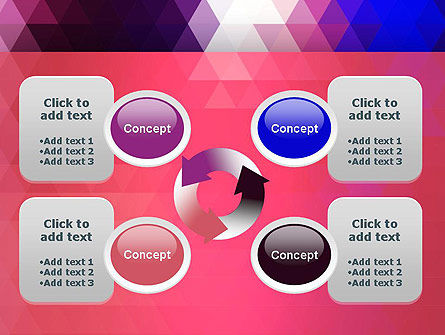 Triangle Subtle Pattern PowerPoint Template Slide 9
