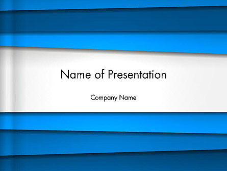 Asymmetric Blue Stripes Abstract PowerPoint Template, 13420, Abstract/Textures — PoweredTemplate.com