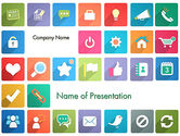 Business Concepts: Icons in Flat Design PowerPoint Template #13421