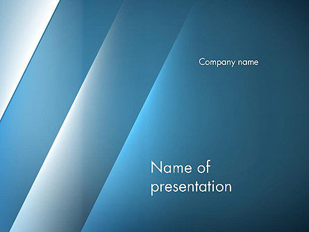 Abstract Background with Blue Layers PowerPoint Template