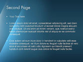 Abstract Background with Blue Layers PowerPoint Template#2