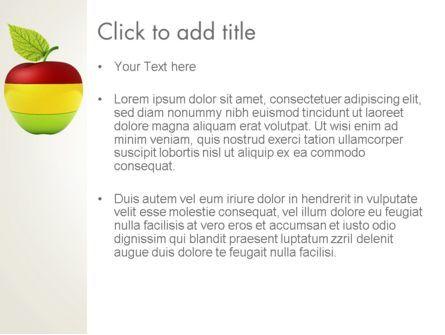 Multi Colored Apple PowerPoint Template, Slide 3, 13423, Food & Beverage — PoweredTemplate.com