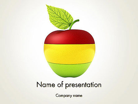 Food & Beverage: Multi Colored Apple PowerPoint Template #13423
