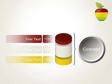 Multi Colored Apple PowerPoint Template Slide 11