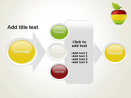 Multi Colored Apple PowerPoint Template Slide 17