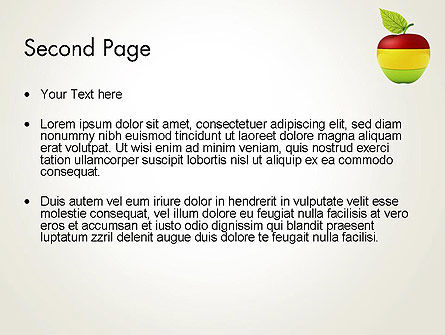 Multi Colored Apple PowerPoint Template Slide 2