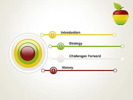 Multi Colored Apple PowerPoint Template Slide 3