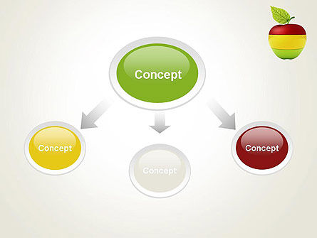Multi Colored Apple PowerPoint Template, Slide 4, 13423, Food & Beverage — PoweredTemplate.com
