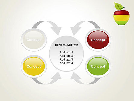 Multi Colored Apple PowerPoint Template Slide 6